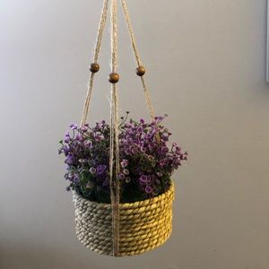 Faux Hanging Flowers